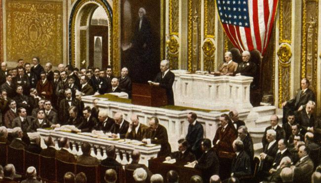 Woodrow Wilson Before Congress
